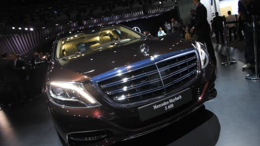 The new Mercedes-Benz Maybeck S 600 unveiled at the 2014 L.A. Auto Show.